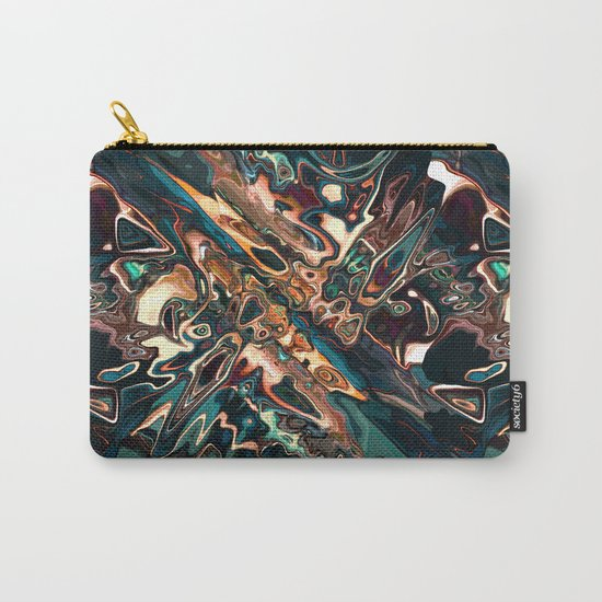 Melting Copper Abstract   Carry-All Pouch