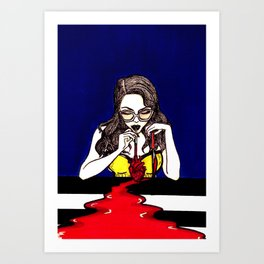Blood Like Wine 1 Art Print