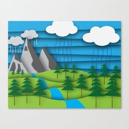 Pacific Northwest Illustration Canvas Print