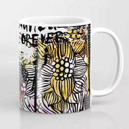 messy floral Coffee Mug