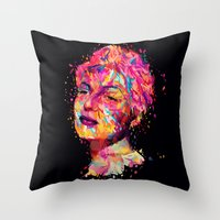 wasted rita Throw Pillows featuring Rita by Alessandro Pautasso