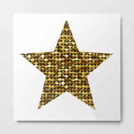 Sparkling Star,golden Metal Print