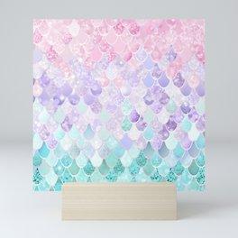 Mermaid Pastel Iridescent Mini Art Print