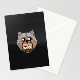 wolf kills jay Stationery Cards