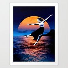 Shadow Dancer - setting Art Print