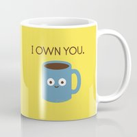 coffee Mugs featuring Coffee Talk by David Olenick