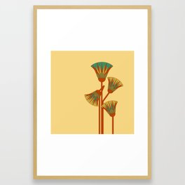 Ancient Egyptian lotus - Colorful Framed Art Print