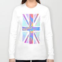 hologram Long Sleeve T-shirts featuring Holographic Union Jack  by Berberism Lifestyle