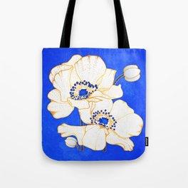 Ultramarine Blue :: Anemones Tote Bag