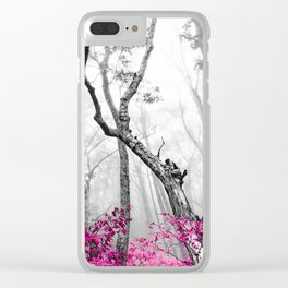Princess Pink Forest Garden Clear iPhone Case
