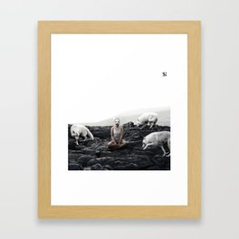 The White Sky VII Framed Art Print