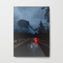 Moody Yosemite Valley Metal Print