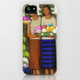 Flowers of Mexico, Angel's Trumpet, Tiger Lilies, Bougainvillea,& Peonies by Alfredo Martinez iPhone Case