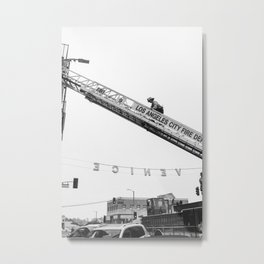 Firefighters in Venice Beach California Metal Print