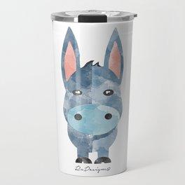 Water Colour Baby Donkey Travel Mug