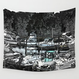 all Boats in a Row Wall Tapestry