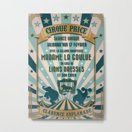 CIRQUE PRICE BLEU Metal Print