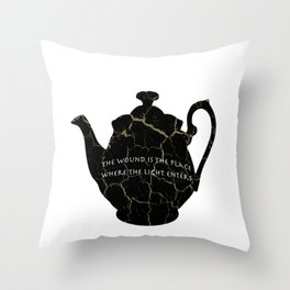 The Wound Is The Place Where The Light Enters You - Rumi Quote Throw Pillow