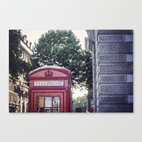 telephone Canvas Prints featuring Telephone.  by Ciara Rose Photography