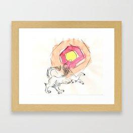 Greeter of the Sun Framed Art Print