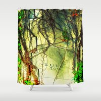 i like you Shower Curtains featuring I Like You by Bonnie Feaster Chapa