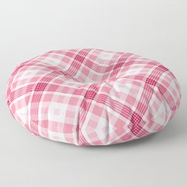 Pink and Red Valentine's Plaid Floor Pillow