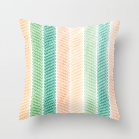 Feather Pattern Throw Pillow