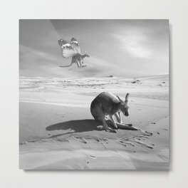 Flying kangaroo Metal Print