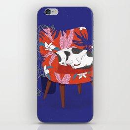 Sleeping Dog in Armchair – Dark Version iPhone Skin