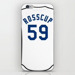 Zac Rosscup Jersey iPhone Skin