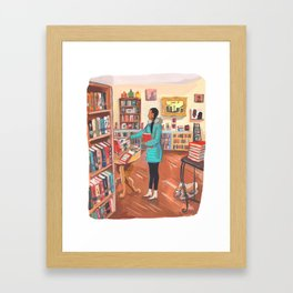 Word Up Books Framed Art Print