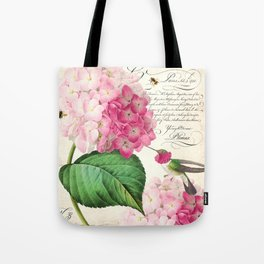 Hummingbird with hydrangea Tote Bag