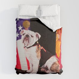 Bulldog Navy Official Mascot Dog Comforters