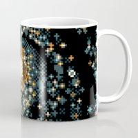 8bit Mugs featuring Pinwheel Galaxy M101 (8bit) by Sarajea