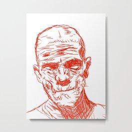 Boris in a wrap Metal Print
