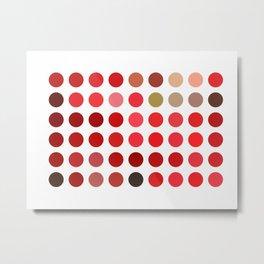 Mottled Red Poinsettia 1 Ephemeral Dots Metal Print