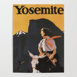 Retro Yosemite Travel Poster Poster