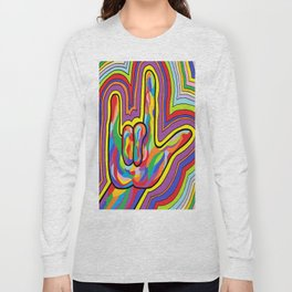 Radiating I LOVE YOU! Long Sleeve T-shirt