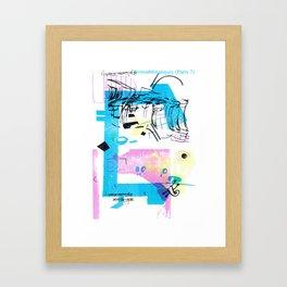 Biomathématiques (Paris 7) Framed Art Print