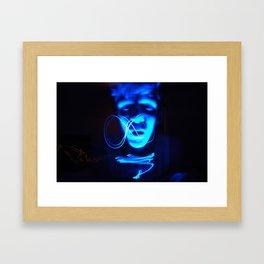 behind meaning Framed Art Print