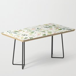 Botanical Spring Flowers Coffee Table