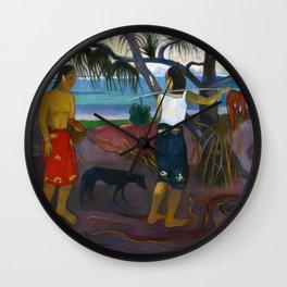 Under the Pandanus by Paul Gauguin Wall Clock