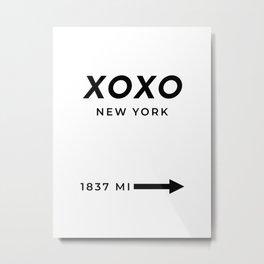 XOXO Hugs And Kisses Print XOXO Poster XOXO Wall Art XOXO Decor XOXO Print Hugs And Kisses Decor Metal Print