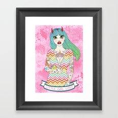 Little Girl Lost Framed Art Print