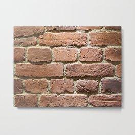Background red brick wall Metal Print