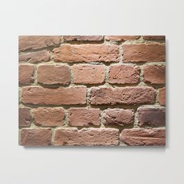 Background red brick wall Metal Print