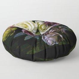 Roses Dark Moody Old Masters Floor Pillow