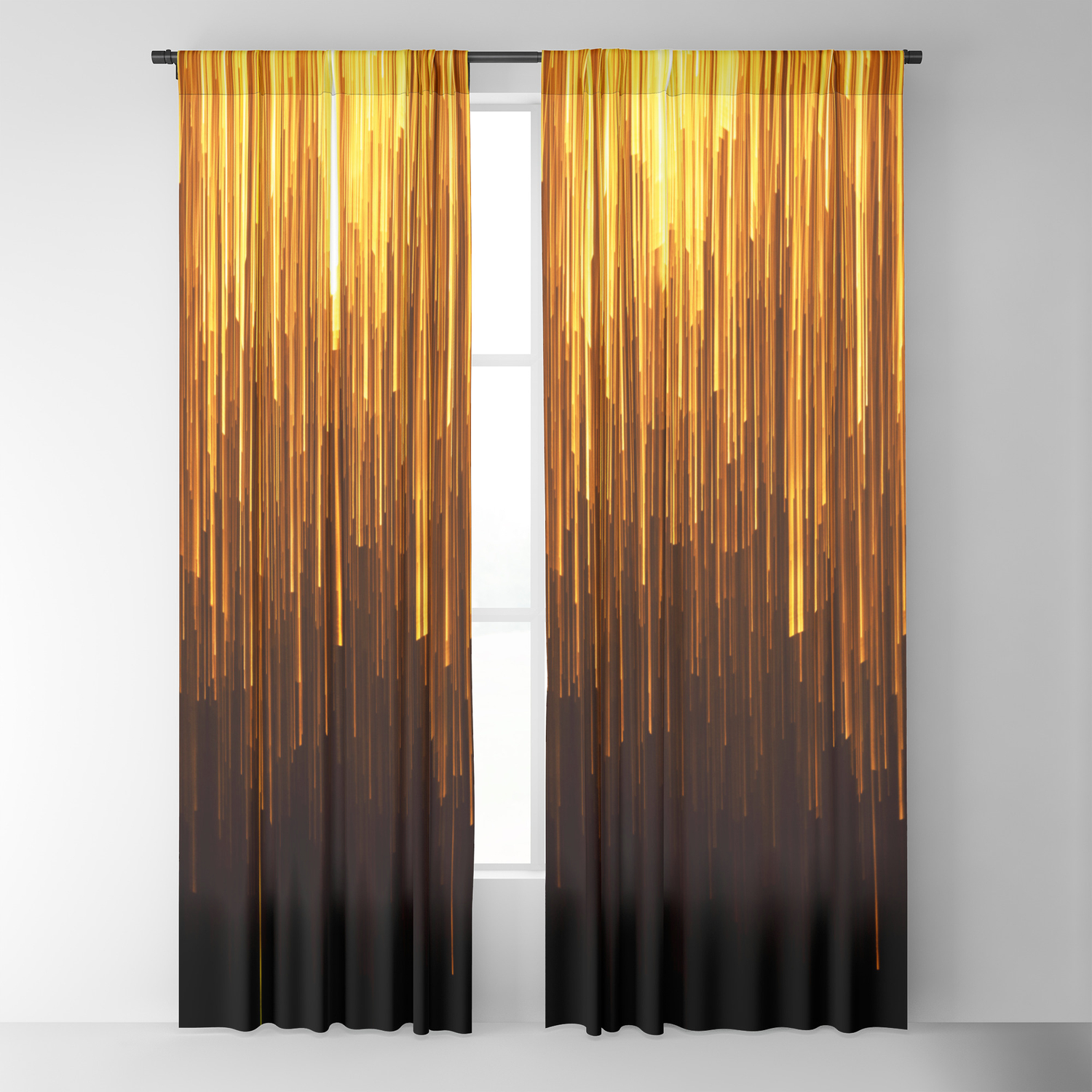 Golden Rain Deco Modern Blackout Curtain by jamesmichals | Society6