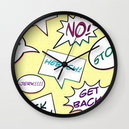 Self Defense Phrases Wall Clock