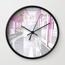 pastel path Wall Clock